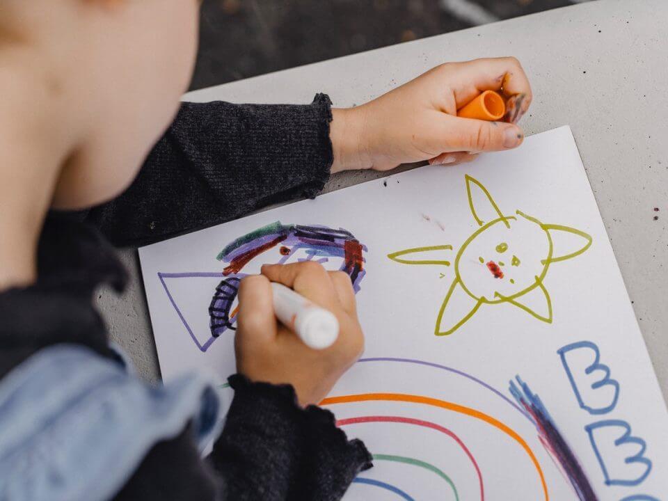 child drawing process